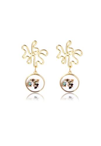 Kings Collection gold Shell Alloy earrings (KJEA20069) EC0C8AC9319ED0GS_1