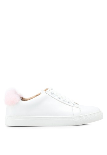 Carlton London white Fur Sneakers 94C4CSH3B0EBDEGS_1