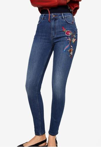 Mango blue Soho Skinny Jeans 91547AA6E6A2E2GS_1