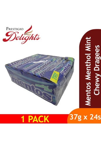 Prestigio Delights Mentos Menthol Mint Chewy Dragees 37g x 24s E9BECESFFFE517GS_1