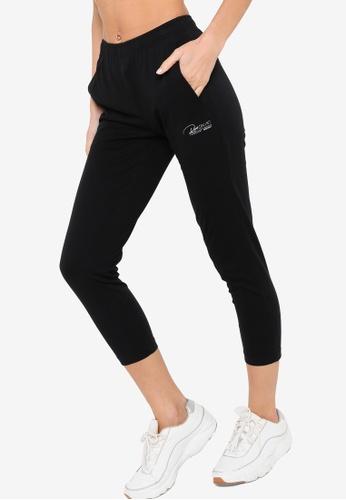 361° black Running Series Knit Cropped Pants E888DAA9692F2BGS_1