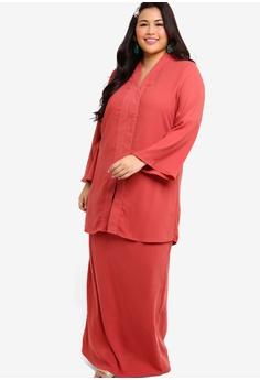 afdca340e 50% OFF Lubna Long Kebaya With Flap Skirt RM 215.00 NOW RM 107.90 Sizes XXL  XXXL XXXXL XXXXXL
