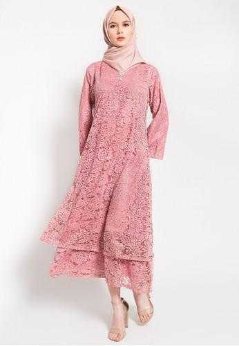 Kasa Heritage pink Hala Dress -  Pink 3E31DAA62C480EGS_1