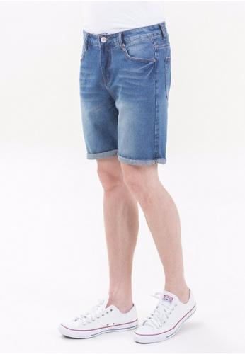 Drum Classic Short Jeans-BLU DR425AA70TOZMY_1