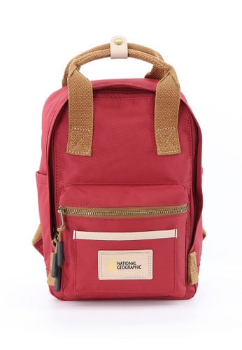 National Geographic red National Geographic Legend Backpack Red Small E6DC6ACA89FBADGS_1