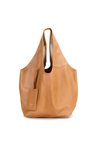 e6f705fca0d4 Shu Talk brown Italian Made Leather Slouch Hobo Tote Bag BEFB2ACC93D146GS 1
