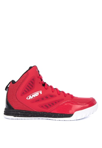 And1 red and multi Tactic Basketball Shoes 3E9DDSHD7DDEC1GS_1