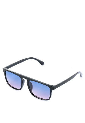 Urban State black Polarized Plastic Hiker Rectangular Sunglasses A0DC9GL3A77F6FGS_1