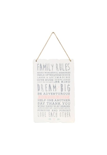 Klosh Wall Plaque - Family Rules CE719HL43FF745GS_1