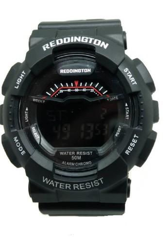 Reddington Jam Tangan Pria Hitam Putih Rubber Strap R1012