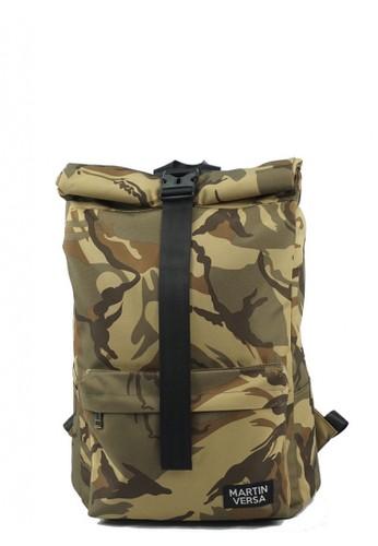 Martin Versa multi Martin Versa Tas TR14 Ransel Pria Laptop / Macbook Water Repellent Roll Top - Army Khaki BEB98AC6C65705GS_1