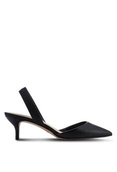 9f49817e8efe ALDO black Lovorelle Pointed Slingback Kitten Heels 2B562SHC40393BGS 1