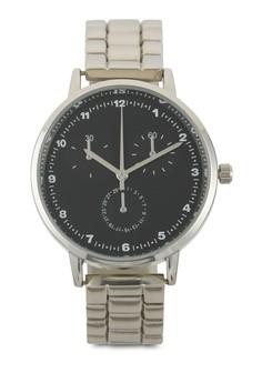 【ZALORA】 復古數字金屬鍊錶