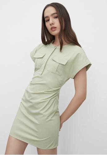 Pomelo green Sustainable Twin Pocket Dress - Green E2531AACA5FE28GS_1