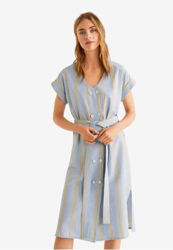 Mango blue Double-Breasted Dress 9C65EAA680868FGS_1