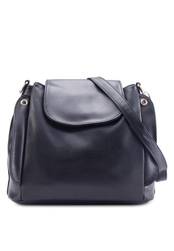 Bagstationz black Multi-Compartment Convertible Sling Bag BA607AC95KIUMY_1