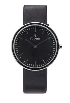 Gunnar 二指針皮革圓錶