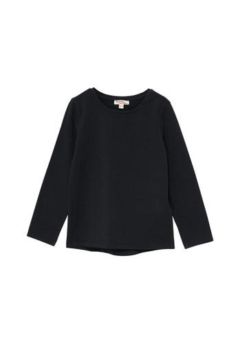 Du Pareil Au Même (DPAM) black Plain Long Sleeve T-shirt 7A9BCKA7A36647GS_1