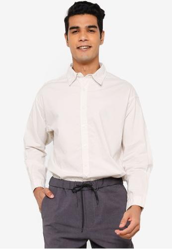 RAGEBLUE white Casual Woven Shirt 03AA4AAFA25DD5GS_1