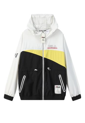 FILA black FILA x Maison MIHARA YASUHIRO Logo Color Blocks Hooded Jacket 994E5AA44D5CA9GS_1