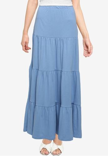 ONLY blue May Maxi Skirt 4916FAA98E822FGS_1