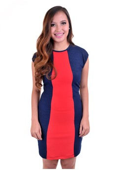 Mishia Clothing Donna Dress in Blue&Red