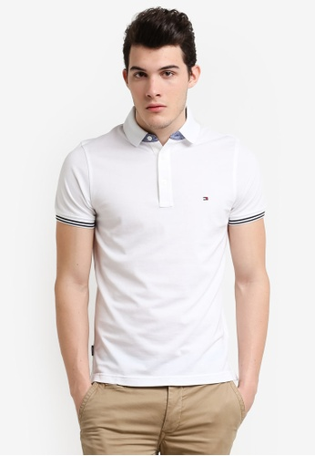 Tommy Hilfiger white SUMMER LUXURY PIQUE POLO S/S SF TO729AA0F331SG_1