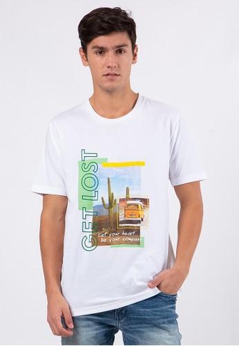 TIRAJEANS white Graphic Short Sleeve T-Shirt B7A96AA62B06C4GS_1