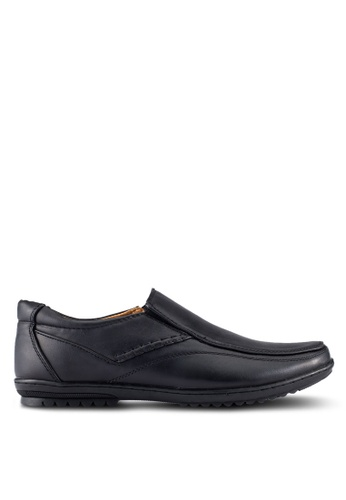 Louis Cuppers black Casual Slip On Shoes LO977SH0RJGCMY_1