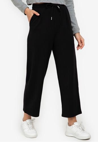 ZALORA ACTIVE black Relaxed Wide Leg Pants 93E96AA3180C29GS_1
