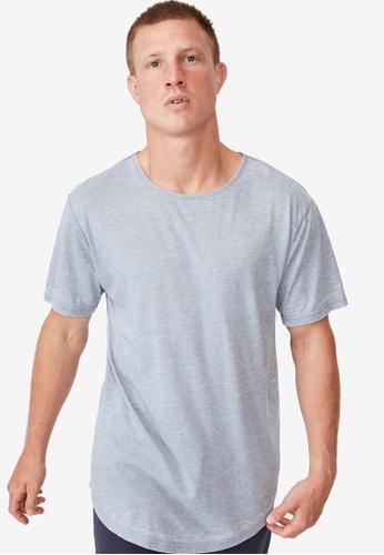 Cotton On blue Longline Scoop Burnout T-Shirt B0AF2AAC29B186GS_1