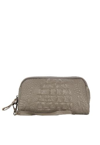 HAPPY FRIDAYS Zipper Crocodile Texture Leather Wallet JN301 7AD43AC5883830GS_1