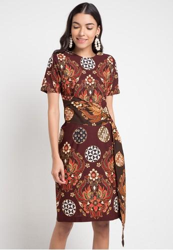 BATIK SEMAR multi Halia Dress Pa L115 Pth Tambal Bulat Kc 33 CB9E6AA2FE5F51GS_1