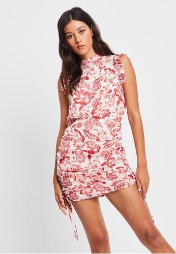 The Fated red Grace Mini Dress 5D779AA9254E54GS_1