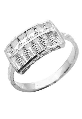 Elfi silver Elfi 925 Sterling Silver Engagement Wedding Abacus Fashion Ladies Ring P69 E415DACA0EED7AGS_1