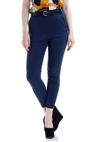Evernoon navy Hazel Celana Chino Wanita Bawahan Kasual Baggy Pants Woman Fashionable - Navy 539BFAA9763F34GS_1