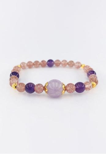 Arthesdam Jewellery gold Arthesdam Jewellery 916 Gold Purple mix Strawberry Quartz Bracelet C15ECAC5001AB2GS_1