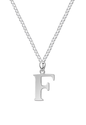 SC Tom Silver silver Letter Pendant with Chain SC872AC0J8CUPH_1