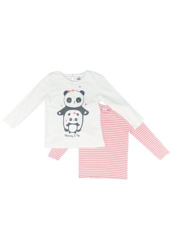 LC Waikiki pink Baby Girl Cotton T-Shirt 2 Pack 95131KAB7857B0GS_1