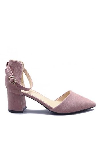 Twenty Eight Shoes pink Strap Mid Heel 883-1 CB22CSH19E1D56GS_1