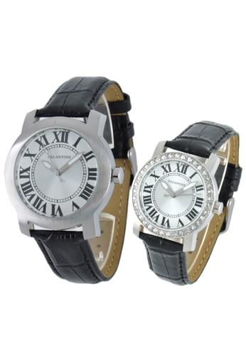 EGLANTINE silver EGLANTINE® - Emile & Emily - 2 Quartz Watches Stainless Steel on Strap - Lady's with Crystals CC968AC91DA48AGS_1