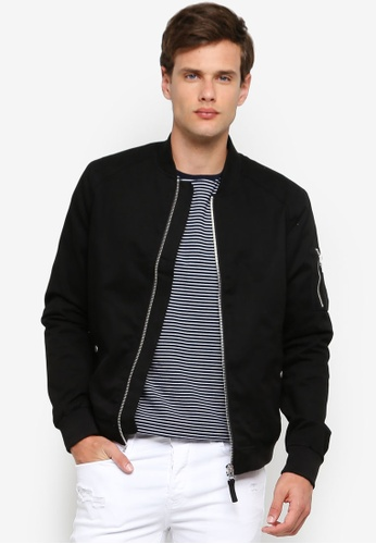 80221d77c Black Bomber Jacket