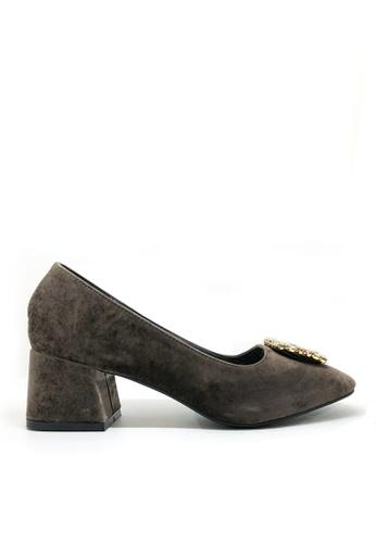 Twenty Eight Shoes black Square Toe Velvet Pumps 1610-10 B64F7SH131E61DGS_1