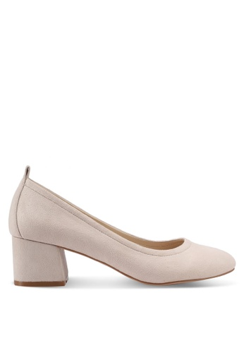 ZALORA beige Covered Block Heels 395A3SHA251D9EGS_1