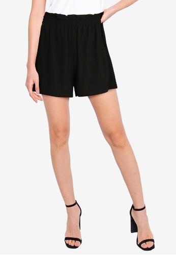 ZALORA BASICS black Paperbag Shorts BD030AA9844E9FGS_1