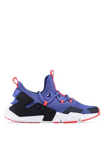Nike black and blue Men's Nike Air Huarache Drift Breathe Shoes 53FAESH7B8EA5CGS_1