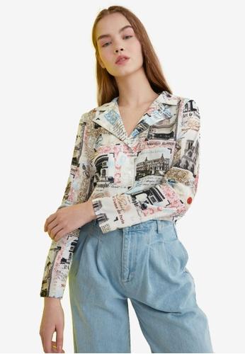 Trendyol multi Abstract Printed Collar Shirt 81538AA80296DAGS_1