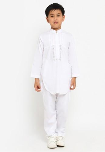 Arafah white Baju Koko Kurta Anak 03 A945BKA23E688AGS_1