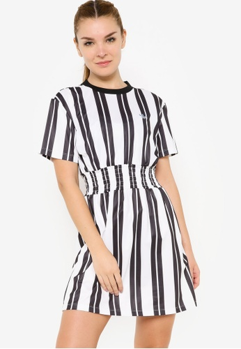 ADIDAS white smocked stripe dress FD4C6AA6015D48GS_1