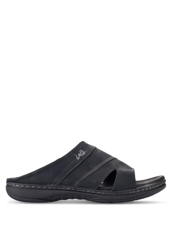 Louis Cuppers black Casual Sandals LO977SH17RDQMY_1